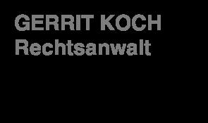 Rechtsanwalt gerrit koch for Koch rechtsanwalt